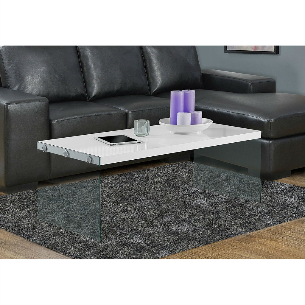 OfficeMateZ™ White Gloss Coffee Table White High Gloss Coffee Table