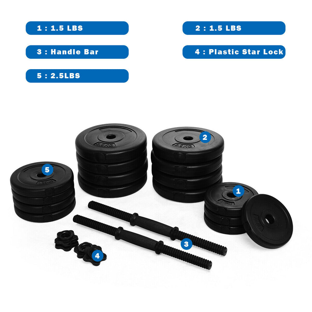 Adjustable Dumbbell Set 64 Pounds Brand New High Quality Dumbbell Weight Set