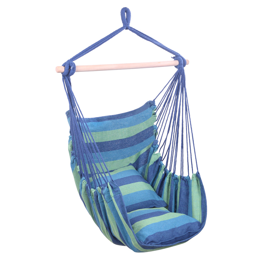 SwingChair™ Hanging Rope Chair Rope Swing Chair Rope Hammock Chair With Pillows