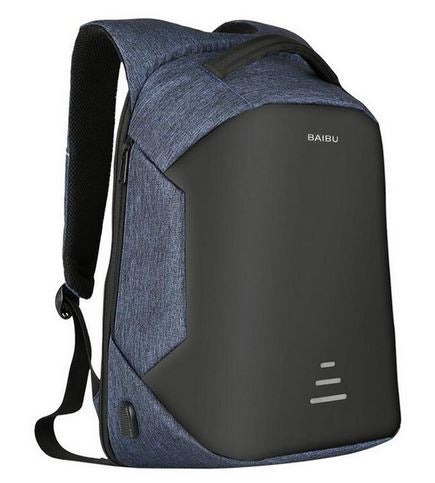 Baibu™ 16 Inch Anti Theft Backpack Laptop Travel Bag With USB Charging Port