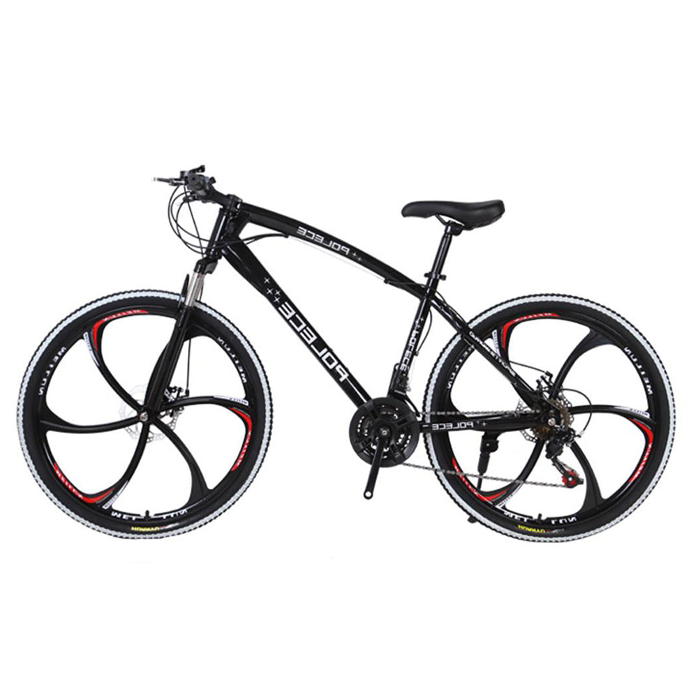 POLECE 26 Inch Mountain Bike With Disc Brakes 21 Speed Full Suspension