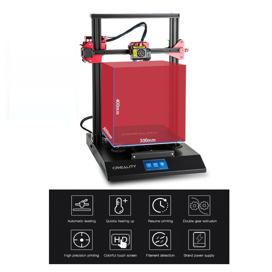 Creality 3D CR 10S Pro 3D Printer Kit With Auto Levelling Sensor Dual Gear Extrusion