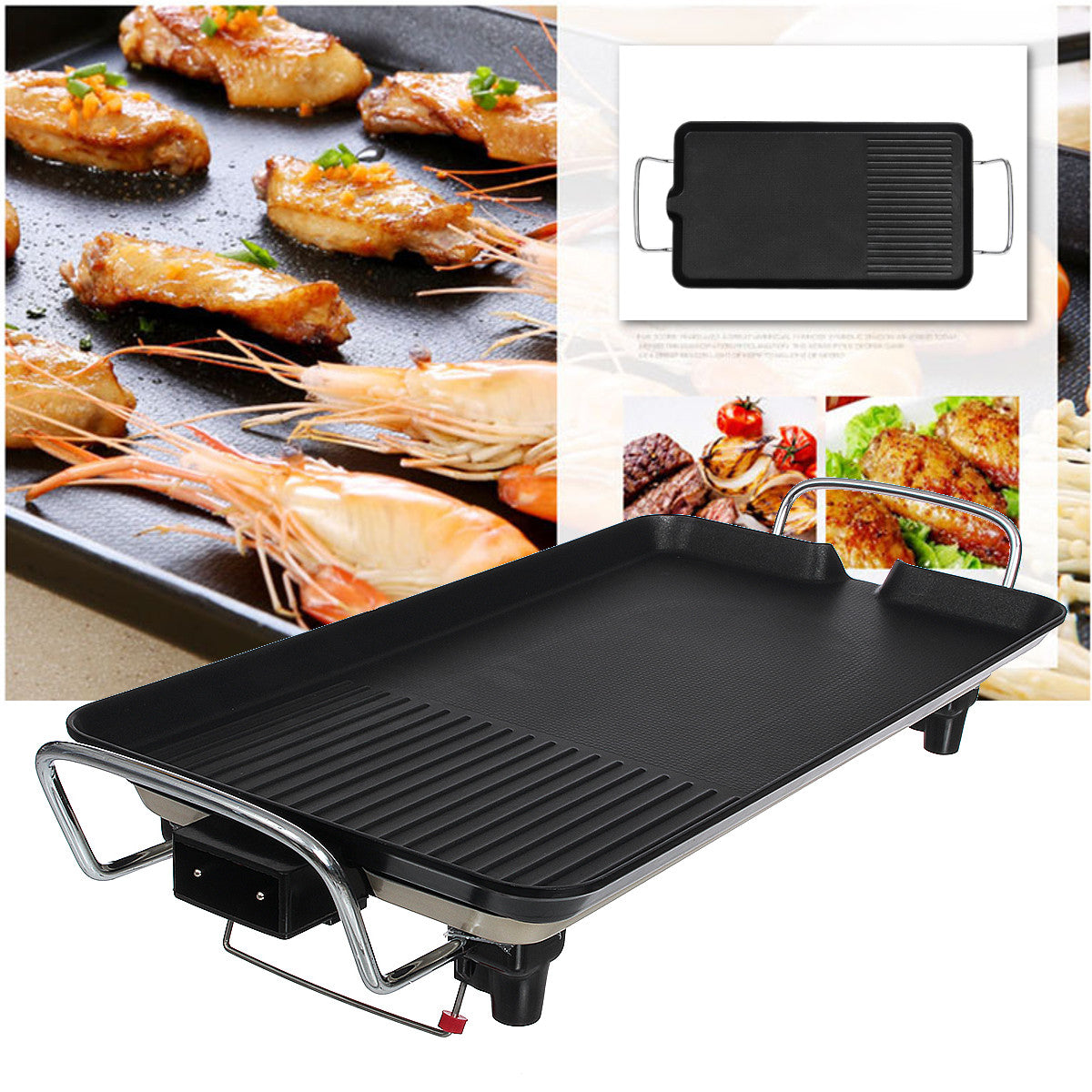 BBQWhiz™ Electric BBQ Grill Portable Electric Grill Tabletop Electric Grill Electric BBQ