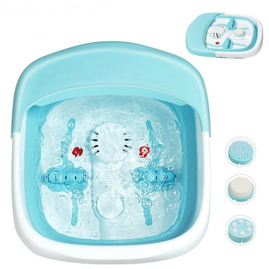 TickleZ™ Foot Bath Massager Motorized Heated Foot Spa Portable And Foldable