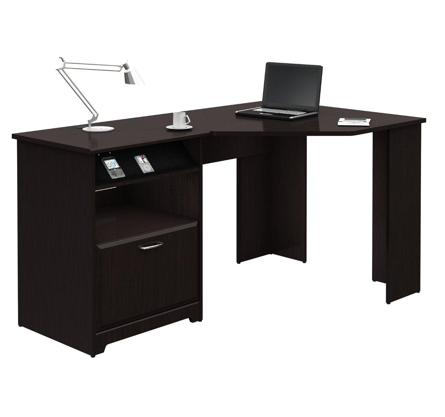 OfficeMateZ™ L Shaped Wood Desk L Shaped Desk With Drawers L Shaped Desk With Storage
