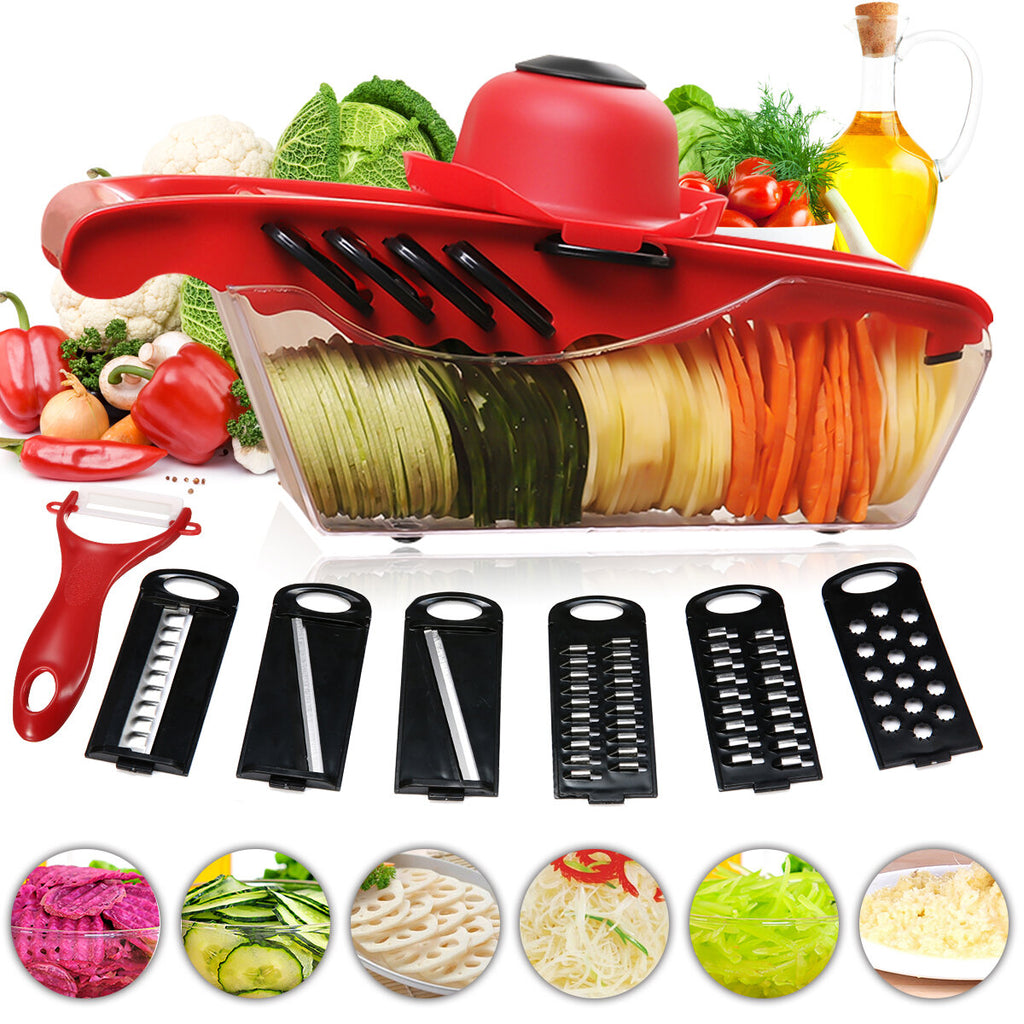 KitchenManna™ Mandoline Slicer Cutter Chopper And Grater Vegetable Slicer Julienne Slicer