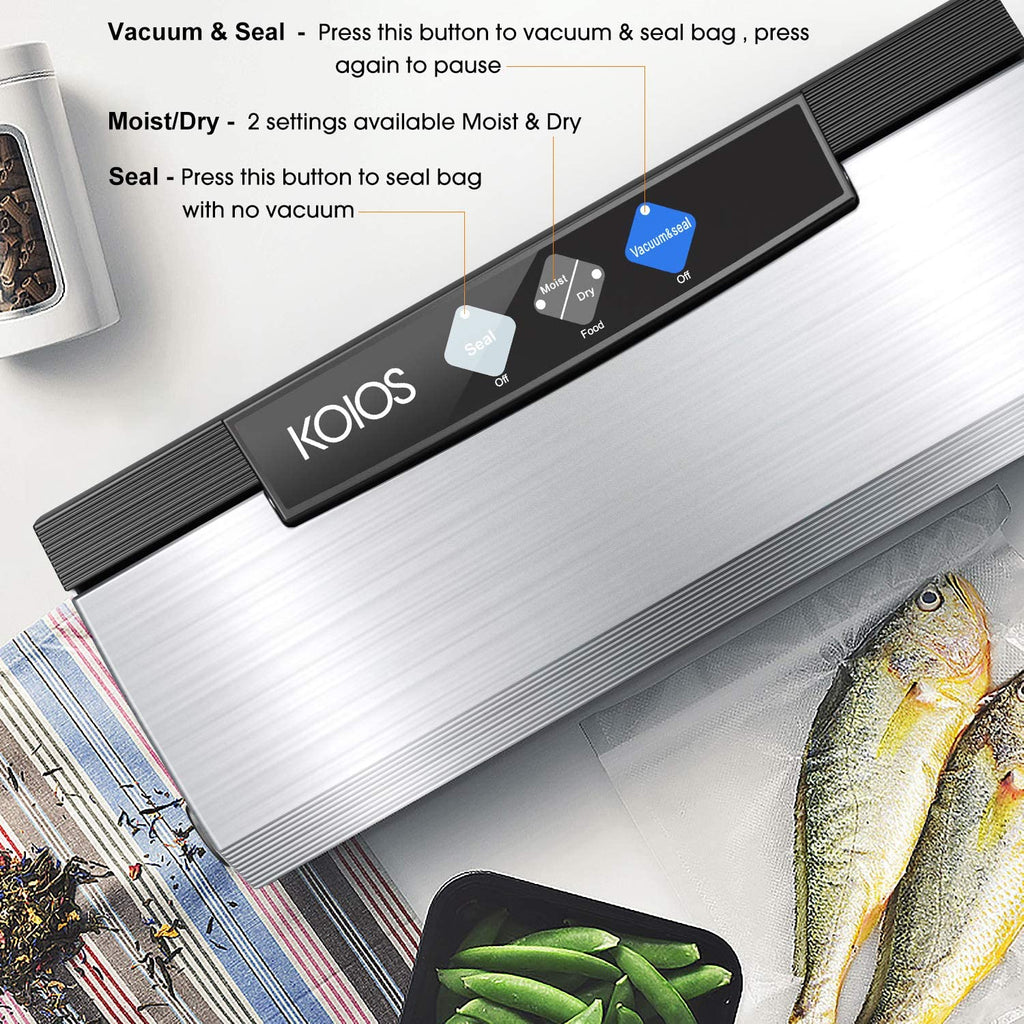 Vacuum Food Sealer 80 kPa Vacuum Sealer Machine