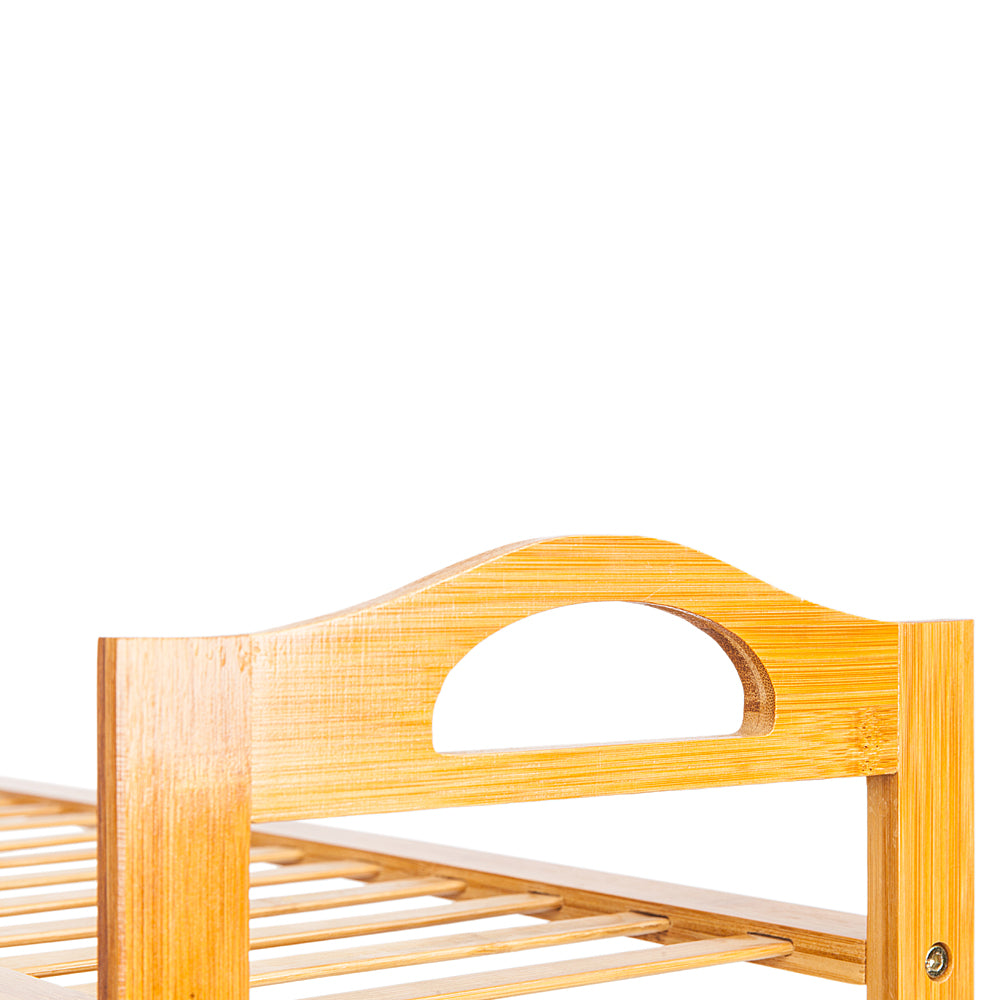 BambooJack™ 4 Tier Bamboo Shoe Rack Stylish Wood Color