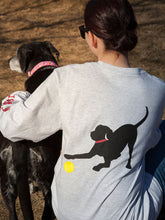 Load image into Gallery viewer, Black Lab w/ Red Collar-Long Sleeve-Ash Grey