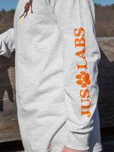 Load image into Gallery viewer, Chocolate Lab w/ Orange Collar-Long Sleeve-Ash Grey
