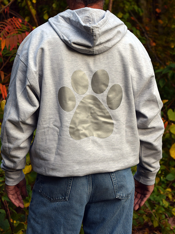 ADULT XL Ash Grey Reflective Hoodie - CUSTOMIZE YOUR BREED