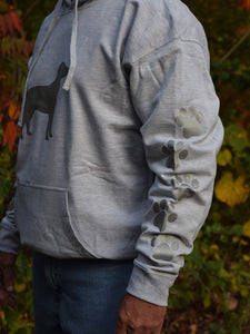 ADULT LARGE Ash Grey Reflective Hoodie - CUSTOMIZE YOUR BREED