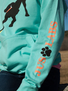 Black Lab w/ Melon Collar - Mint Green