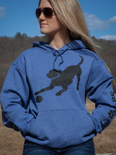 Load image into Gallery viewer, Black Lab Hoodie - Heather Blue