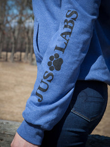Black Lab Hoodie - Heather Blue