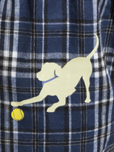 Load image into Gallery viewer, Adult & Youth Blue Flannels w/Yellow Lab