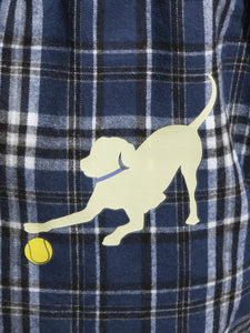 Adult & Youth Blue Flannels w/Yellow Lab