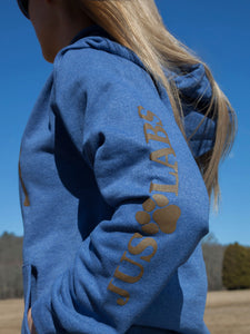 Chocolate Lab Hoodie - Heather Blue