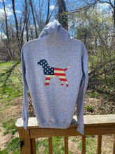 Load image into Gallery viewer, Grey USA Hoodie