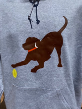 Load image into Gallery viewer, Grey Chocolate Lab w/ Orange Collar