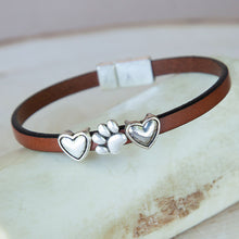 Load image into Gallery viewer, Paw w/ Hearts Bracelets (5mm)