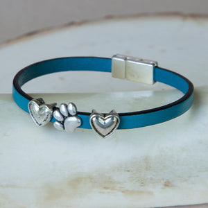 Paw w/ Hearts Bracelets (5mm)