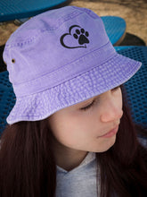 Load image into Gallery viewer, Youth Paw/Heart Bucket Hats