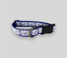"Load image into Gallery viewer, Nautical Collars: Handmade Medium & Large Collars w/ 60"" Leash"