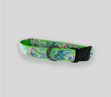 "Load image into Gallery viewer, Floral Collars:  Handmade Medium & Large Collars w/ 60"" Leash"