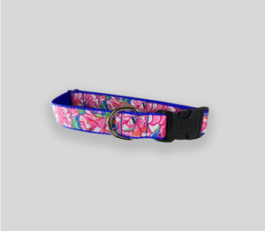 "Floral Collars:  Handmade Medium & Large Collars w/ 60"" Leash"