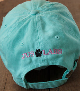 Mint Green Embroidered Labrador Hats