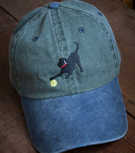 Load image into Gallery viewer, Olive w/ Blue Brim Embroidered Labrador Hats