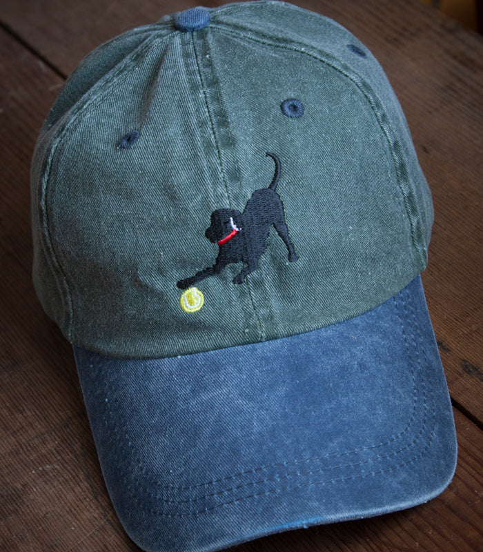 Olive w/ Blue Brim Embroidered Labrador Hats