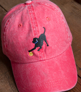 Red Embroidered Labrador Hats