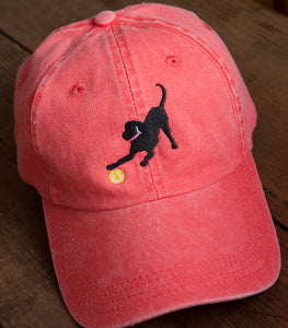 Coral Embroidered Labrador Hats