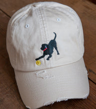 Load image into Gallery viewer, Off-White Distressed Embroidered Labrador Hats