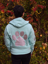 Load image into Gallery viewer, YOUTH SMALL Mint Reflective Hoodie - CUSTOMIZE YOUR BREED