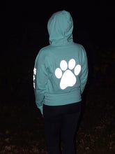 Load image into Gallery viewer, ADULT MEDIUM Mint Reflective Hoodie - CUSTOMIZE YOUR BREED