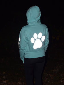 ADULT MEDIUM Mint Reflective Hoodie - CUSTOMIZE YOUR BREED