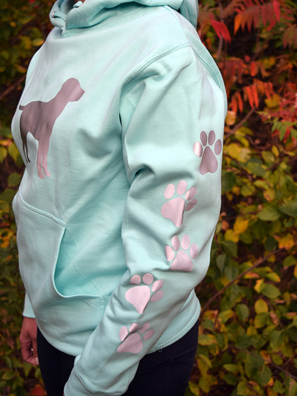 ADULT LARGE Mint Reflective Hoodie - CUSTOMIZE YOUR BREED