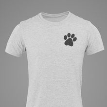 "Load image into Gallery viewer, Unisex ""Rescue Love"" w/ Black Paw- Ash Grey"