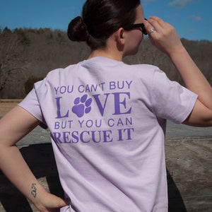 "Woman's ""Rescue Love"" w/ Paw/Heart"