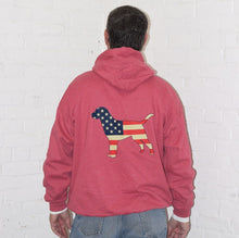 Load image into Gallery viewer, Heather Red USA/ LAB LOVE Hoodie