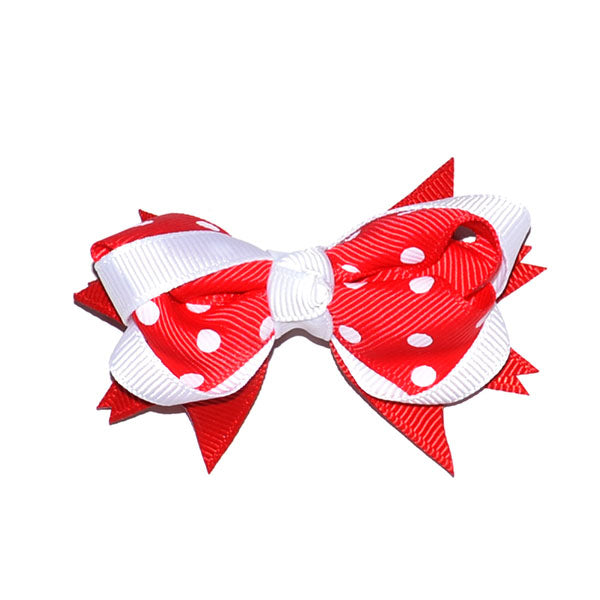Red & White Spot Bow