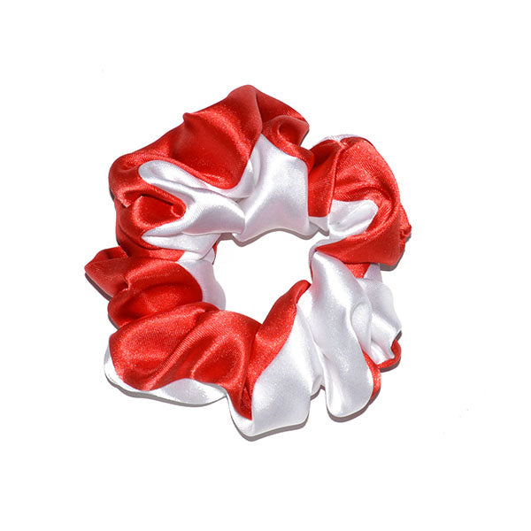 White & Red Scrunchy