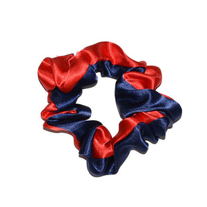 Navy & Red  Scrunchy