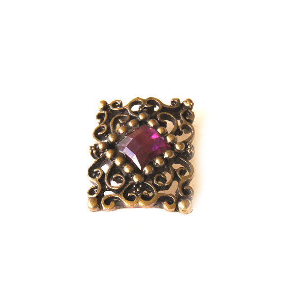 Filligree Cranberry Pink Pin