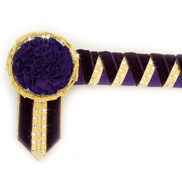 Purple & Gold Swarovski Browband