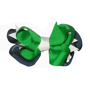 Emerald & Navy Hair Bow