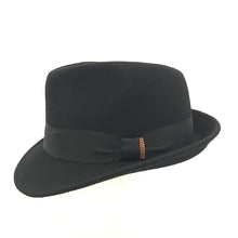 Load image into Gallery viewer, Black Wool Felt Trilby